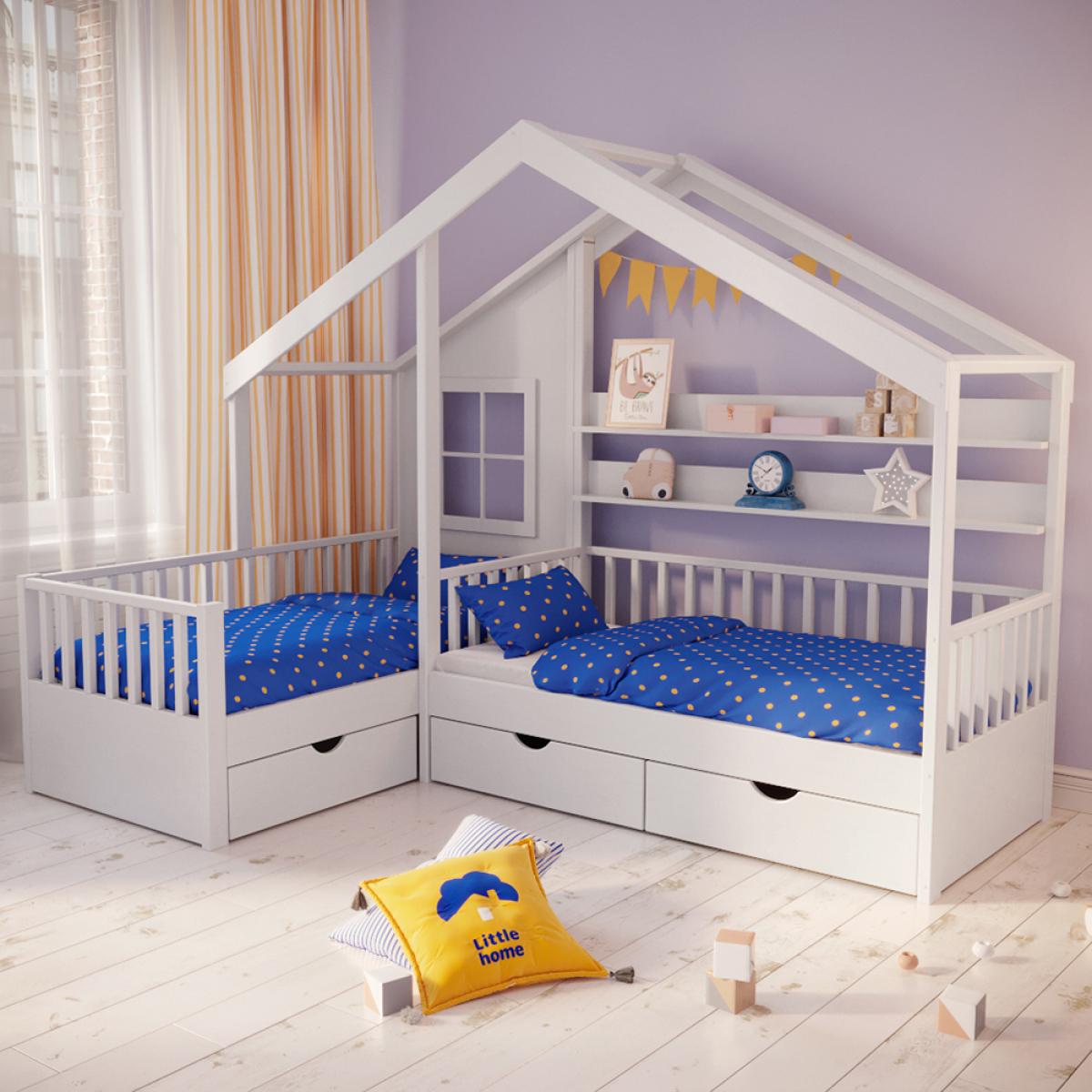 Кровать Мой малыш 01 колесо-качалка съемная стенка